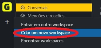 You must create or join an existing Slack workspace.