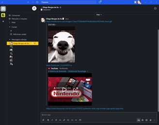 It is possible to upload videos from YouTube that and play them within the chat.