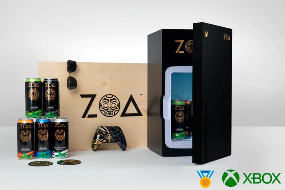 Microsoft e The Rock apresentam frigobar do Xbox Series X