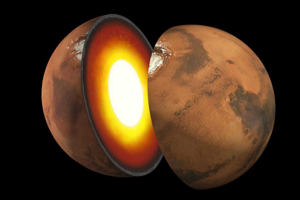 Cientistas descobrem o tamanho do núcleo de Marte
