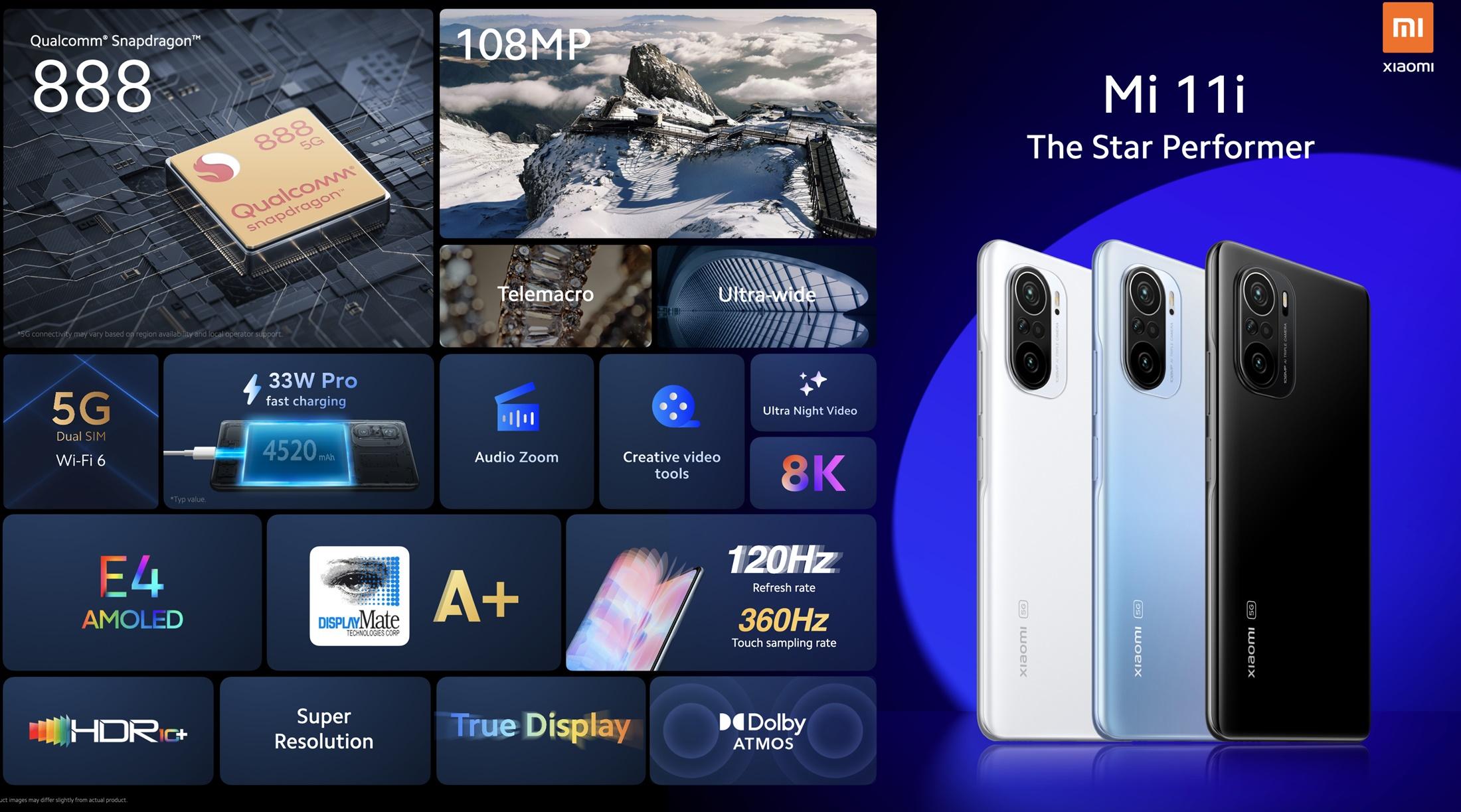 Mi 11i, Xiaomi anuncia Mi 11i, Mi 11 Ultra e Mi 11 Lite