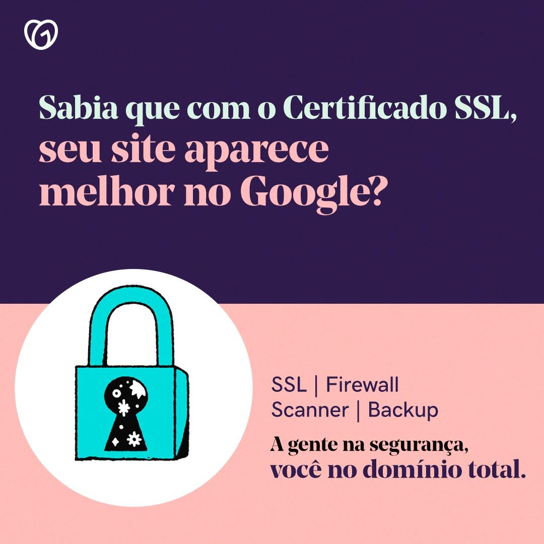 Certificado SSL da GoDaddy melhora o rankeamento no Google