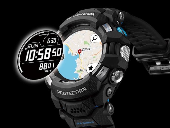 O G-Shock GSW-H1000 combina duas telas LCD.