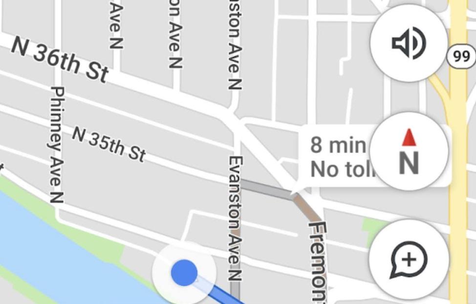 Ícone de bússola está de volta ao Google Maps para Android