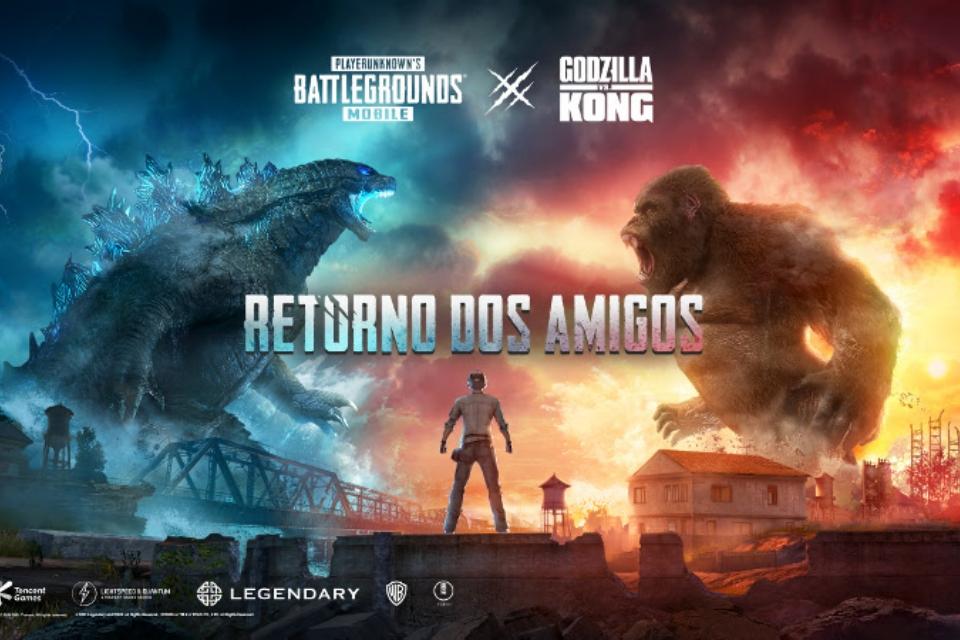 PUBG MOBILE faz 3 anos com conteúdo de Godzilla Vs. Kong