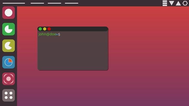 Ubuntu desktop has a sleek and minimalist look.