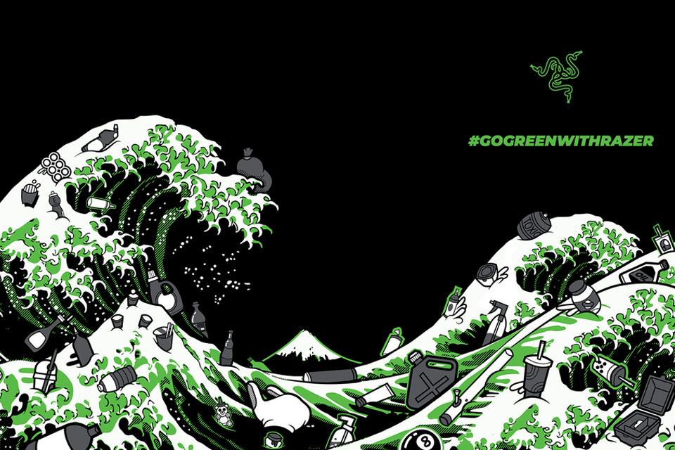 Razer lança Kanagawa Wave, linha de roupas feita com plástico reciclado