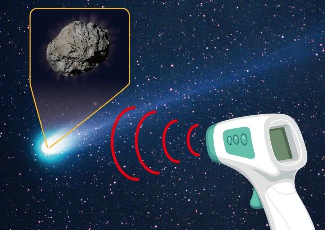 A tecnologia utilizada para observar o corpo celeste è semelhante à do termômetro sem contato.
