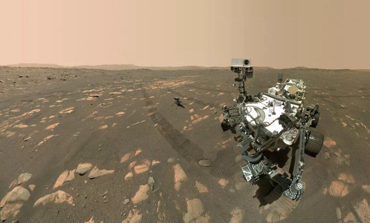 Perseverance 'posta' selfie ao lado do Ingenuity em Marte; veja