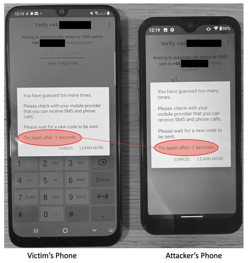 O WhatsApp aplica o bloqueio de conta no celular da vítima e do golpista.