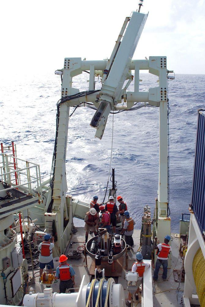 Amostras do fundo do oceano foram coletadas em 30 pontos diferentes do Pacífico.