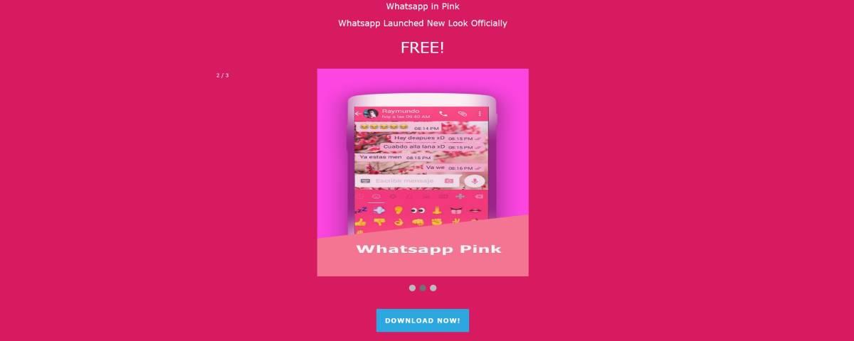 Imagem de: Golpe promete deixar WhatsApp rosa, mas rouba seus dados