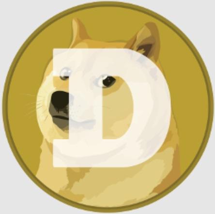 A primeira logo da Dogecoin: sem qualquer esforço de seriedade.
