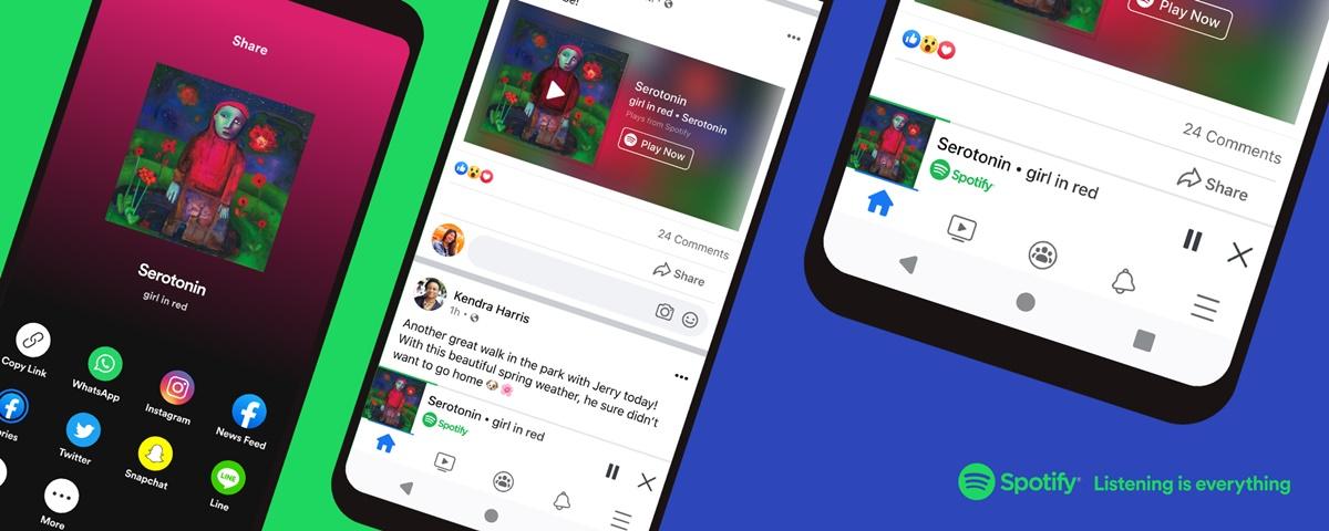 Imagem de: Spotify ganha miniplayer de músicas e podcasts no Facebook