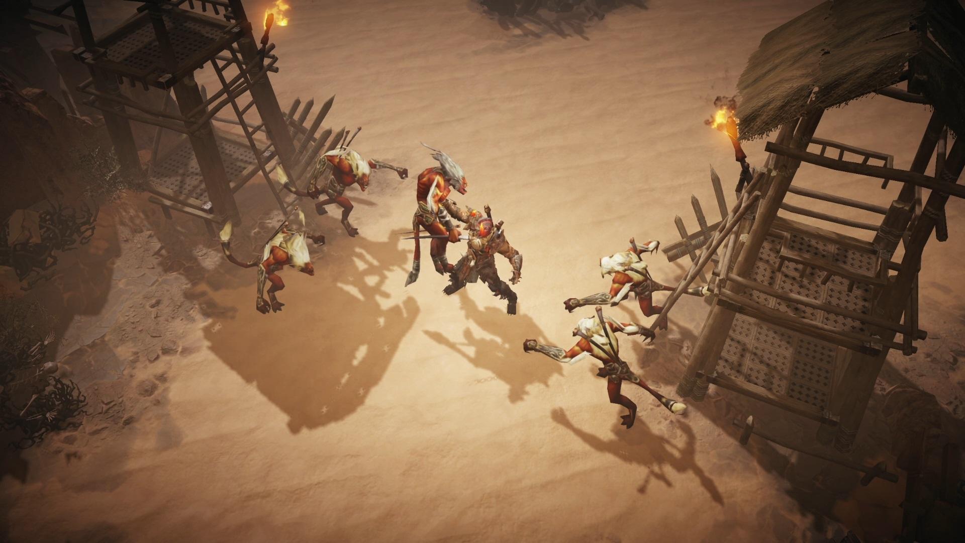 Até personagens já presentes no primeiro teste, como o Bárbaro, estão com animações mais fluídas