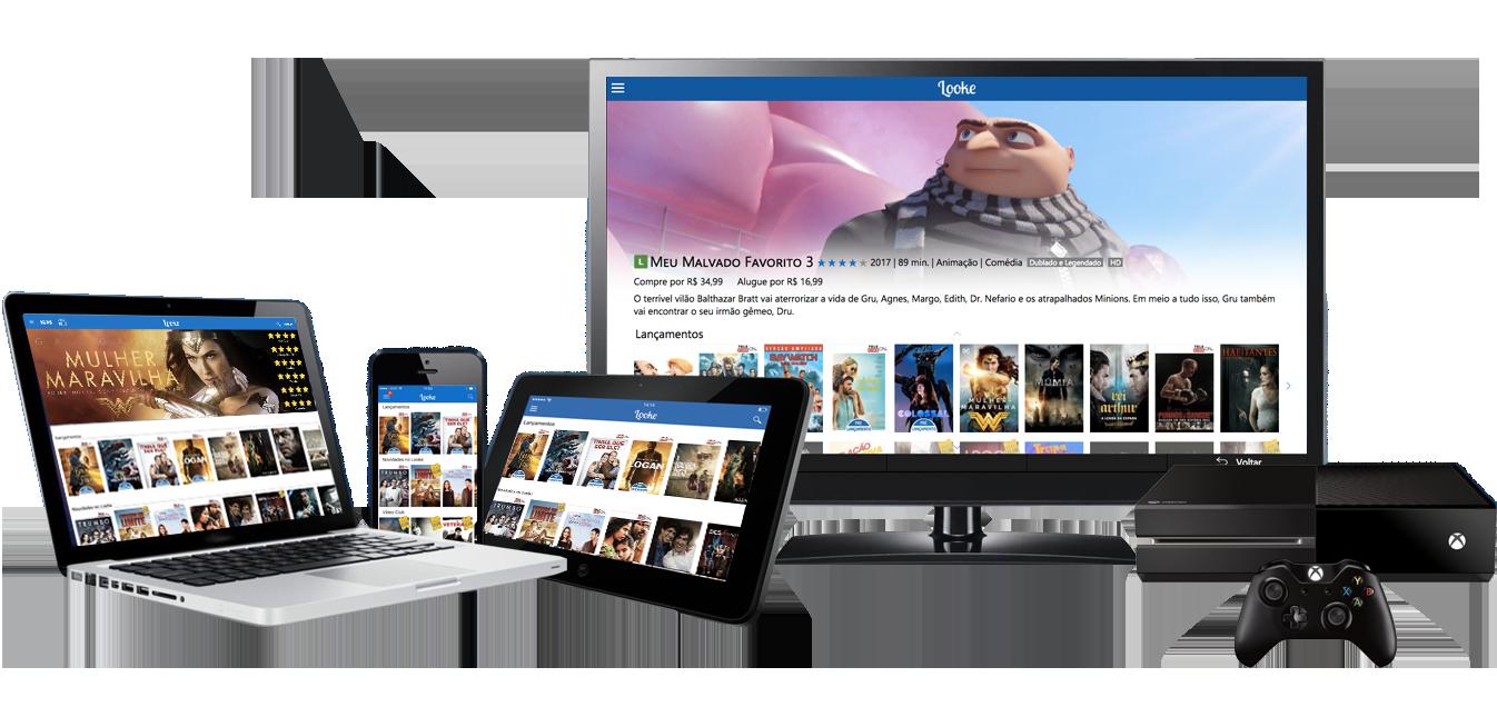 O Looke possui aplicativos para diversas plataformas.