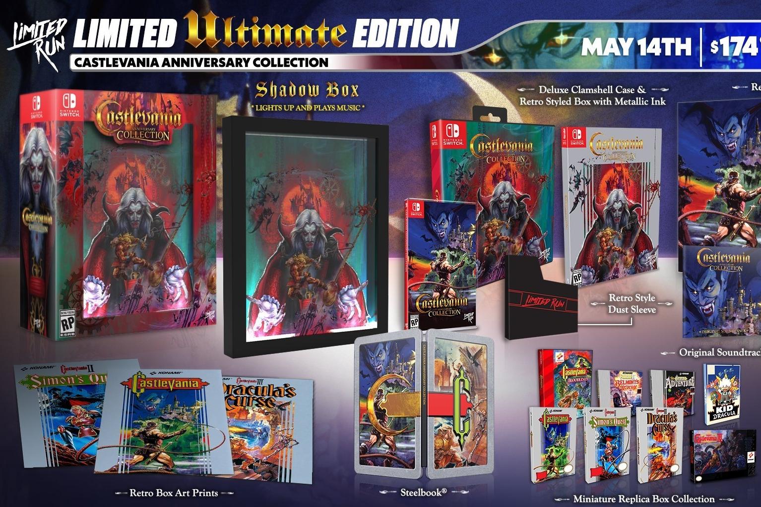 Castlevania Anniversary Collection tem versões físicas reveladas