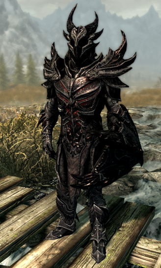 Mounting and equipping the Daedric armor is very rewarding