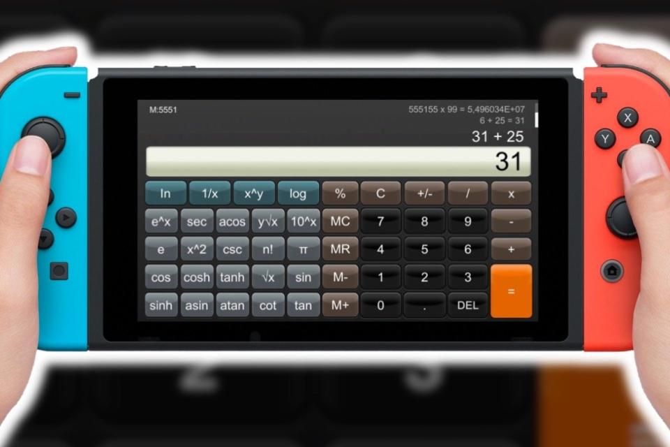 Nintendo Switch: compre o app de calculadora por 'apenas' R$ 60