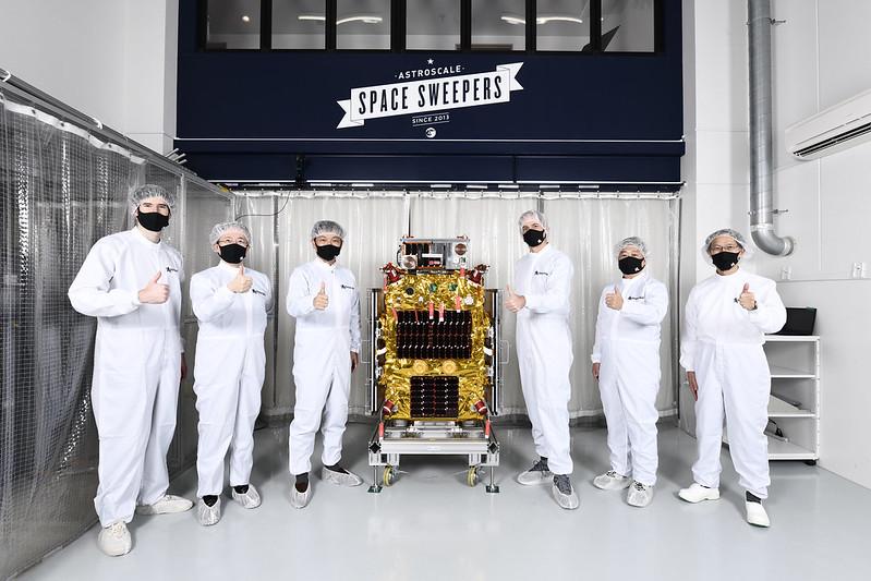 The British Astroscale ELSA-d satellite pair before its launch.