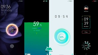 Examples of MIUI loading animations.