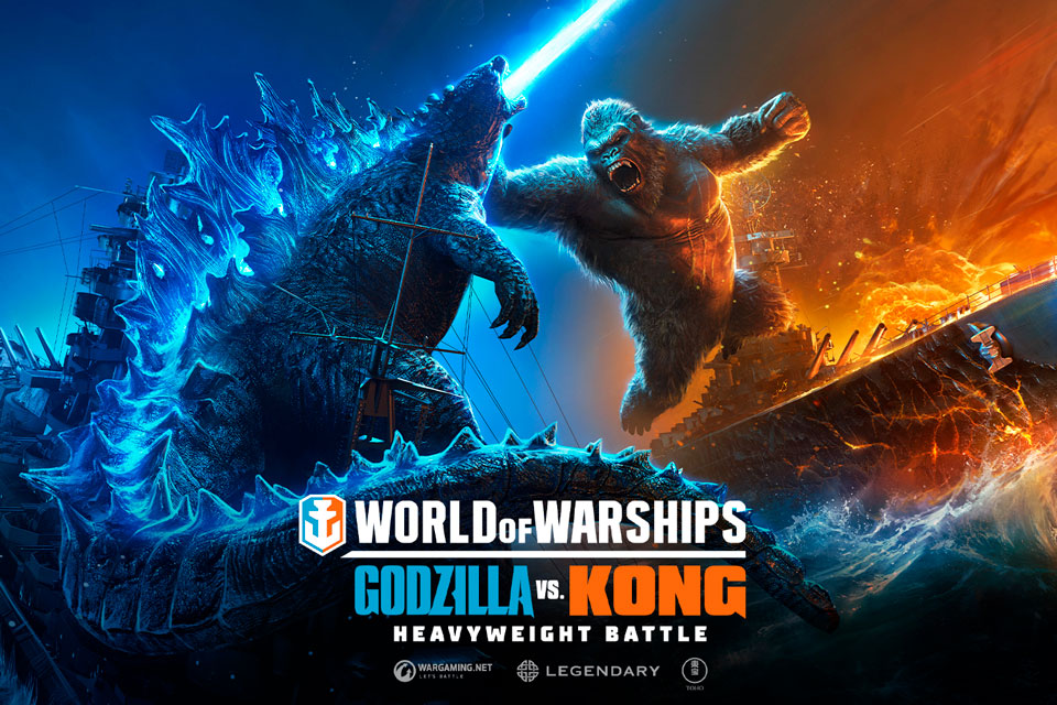 Godzilla e King Kong chegaram à World of Warships