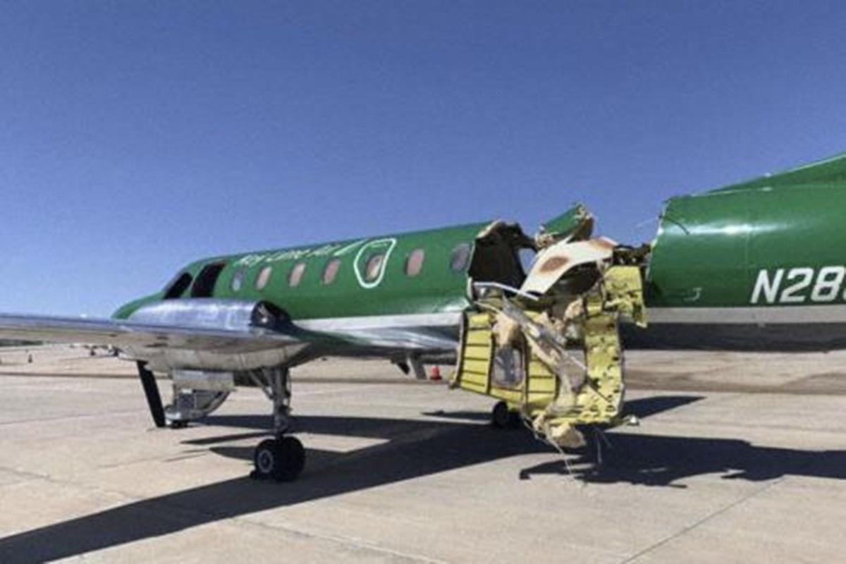 Piloto consegue pousar avião partido ao meio em Denver, nos EUA