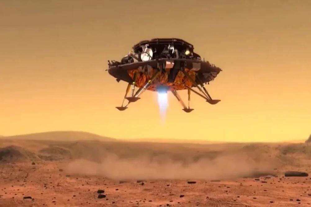 Sonda chinesa Tianwen-1 inicia tentativa de pouso em Marte hoje (14)