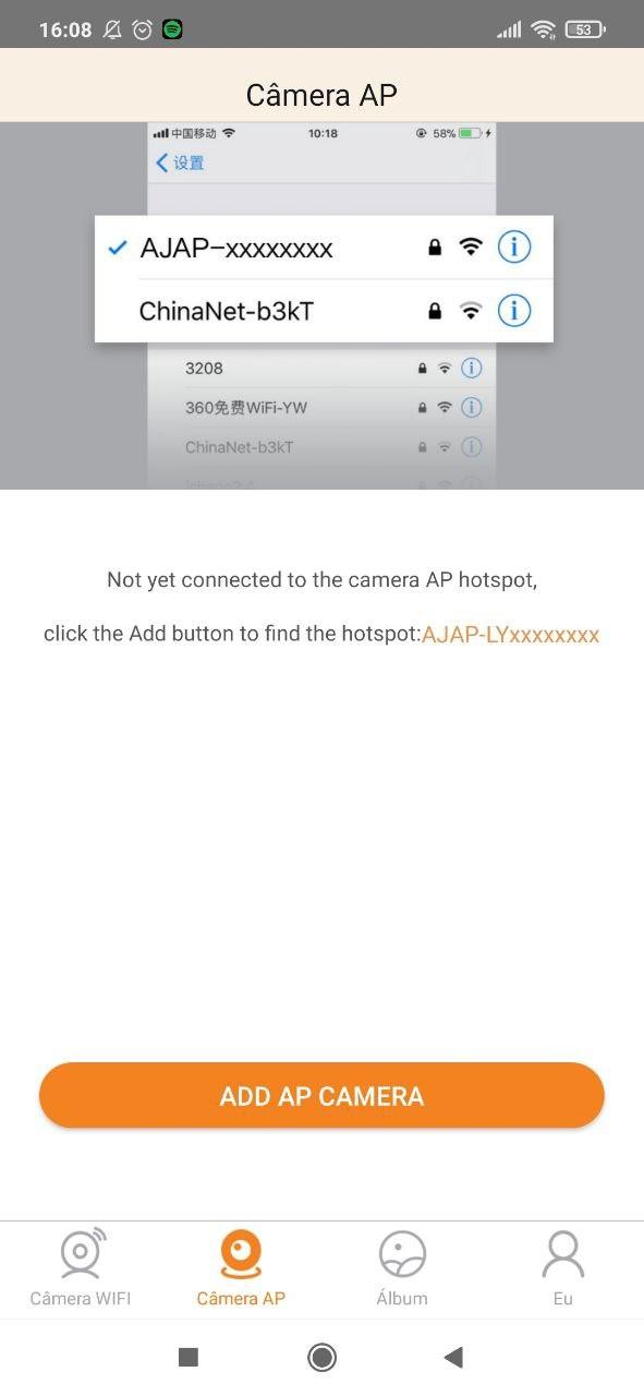 configurações wi-fi de liveyes