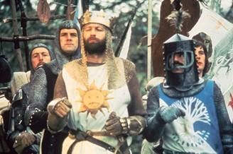 Monty Python in Search of the Holy Grail (1975).