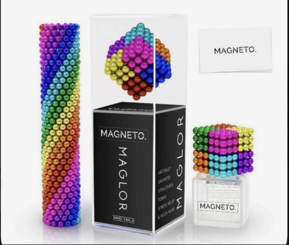 As bolinhas magnéticas estão presentes em diferentes brinquedos.