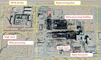 MOX reprocessing and installation plant under construction. March 2020 satellite image.