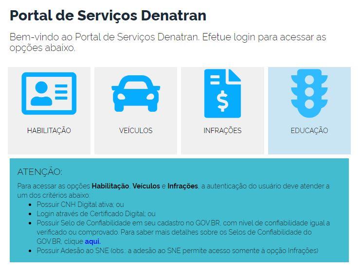 Home of the Denatran Service Portal.