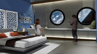 Future may have luxury hotels in space. Illustration of a Voyager Station suite, which plans to open in 2027.