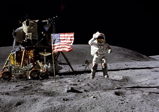 Photo from 1969, when man first set foot on the moon.