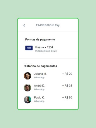 Facebook Pay also has a feature with the history of transactions through the service