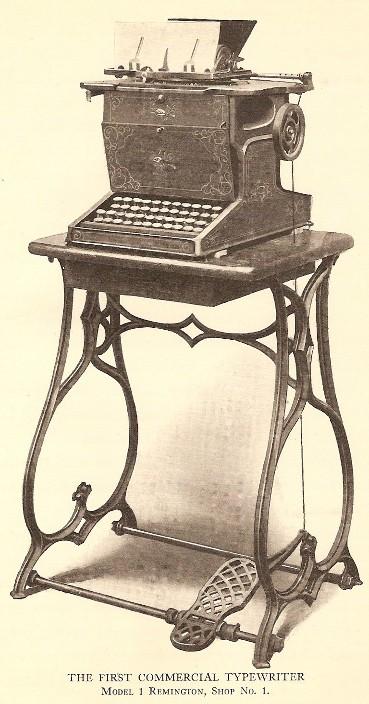 An illustration of Remington machine registration.