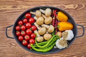 A variety of foods are part of a healthy diet.