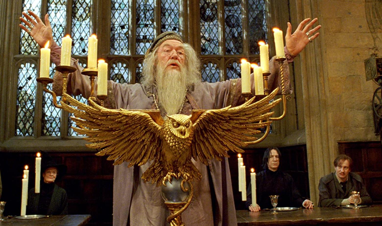 Michael Gambon as Albus Dumbledore.