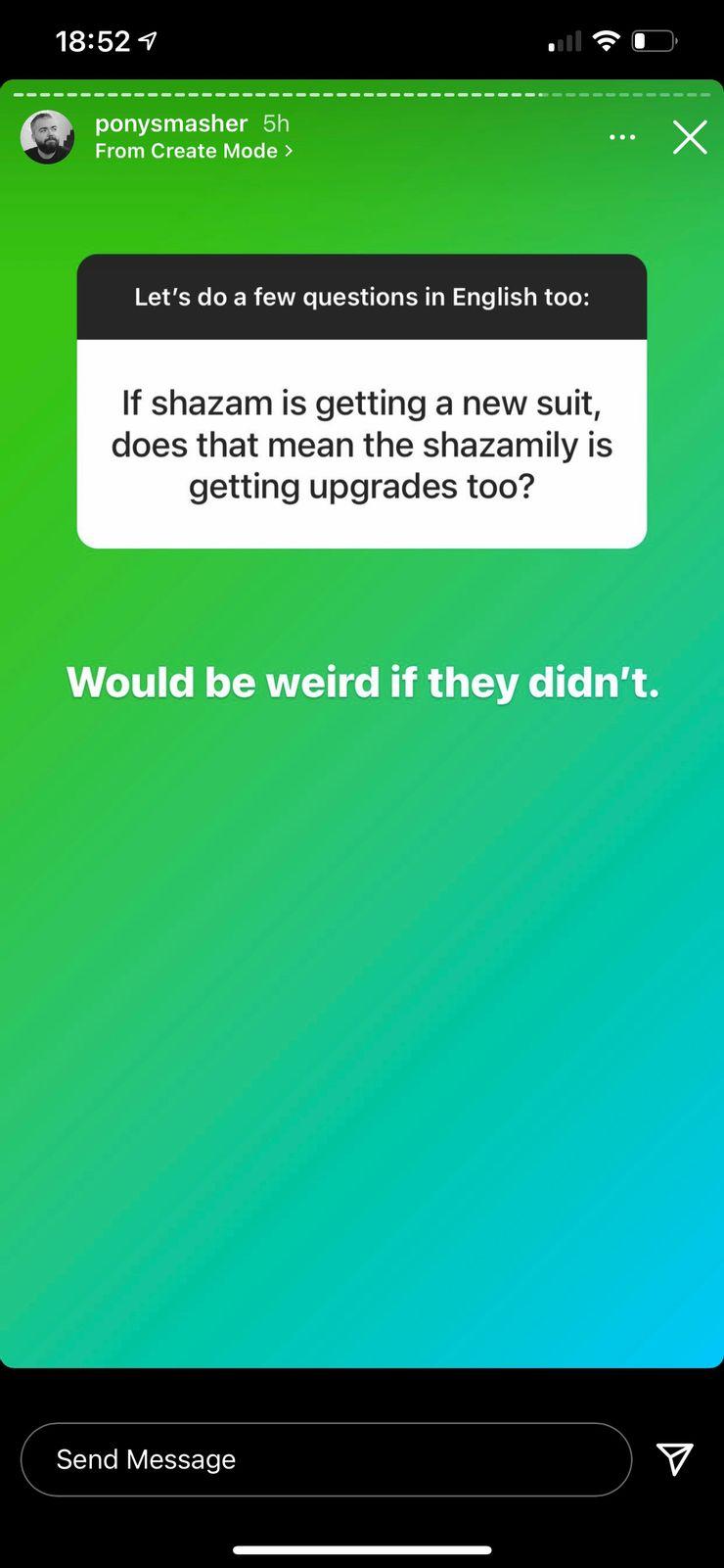 Instagram de David F. Sandberg confirma novos uniformes para a família do Shazam