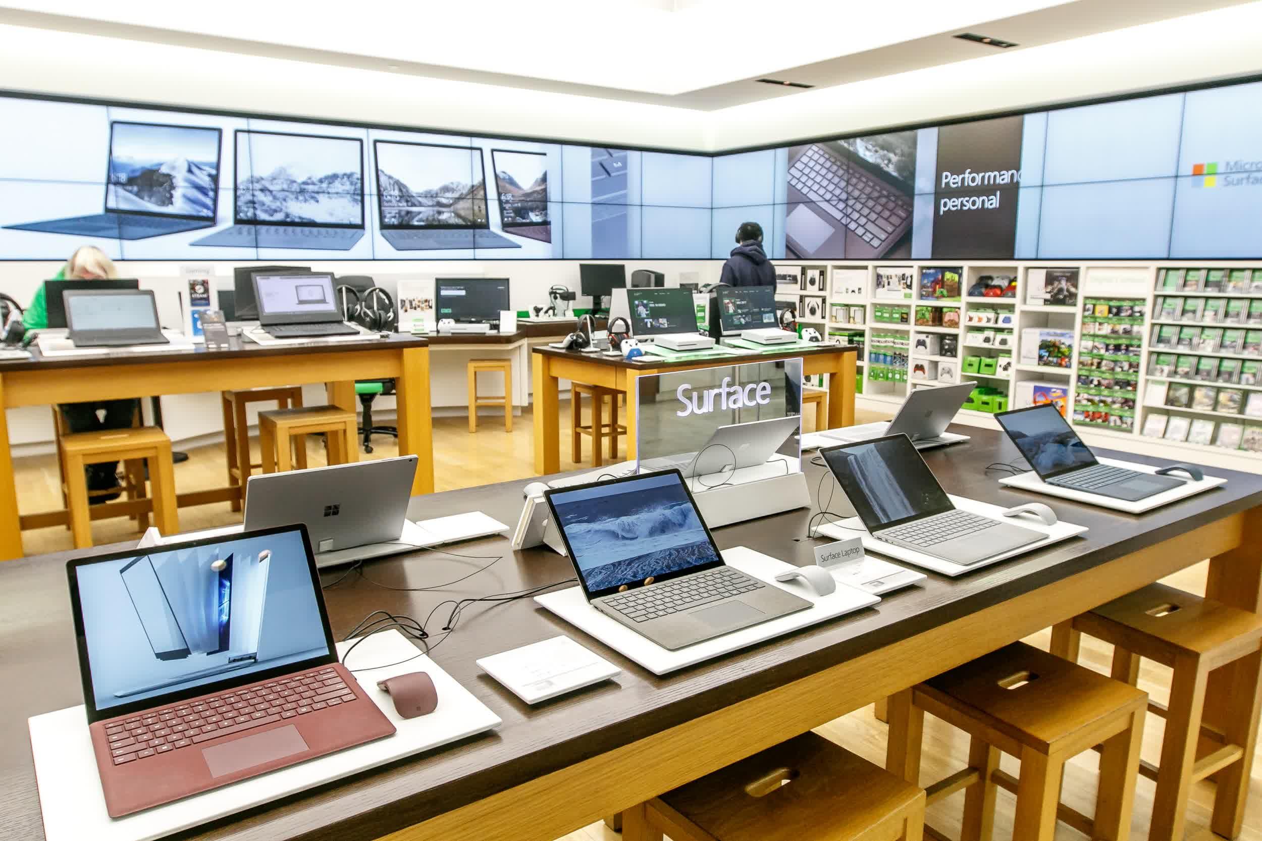Lojas terão alguns produtos das linhas Xbox, Surface e Microsoft 365.