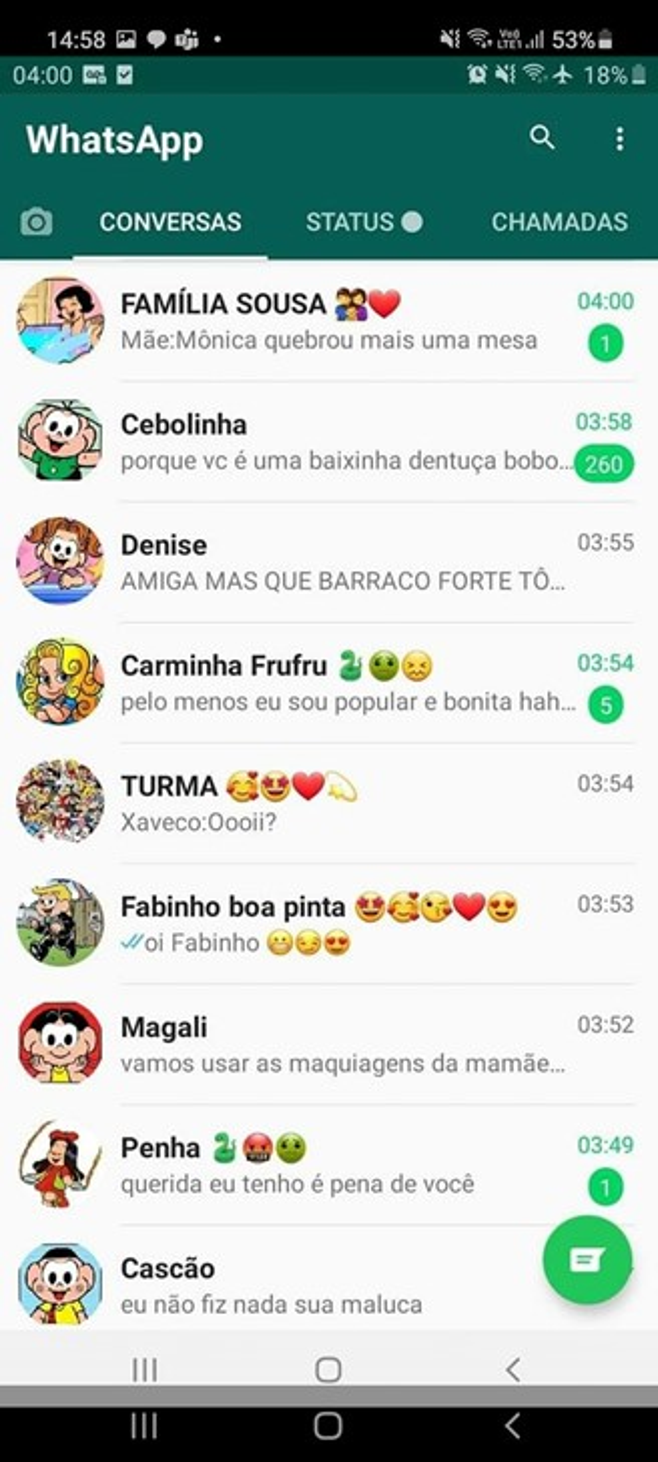WhatsApp Turma da Mônica