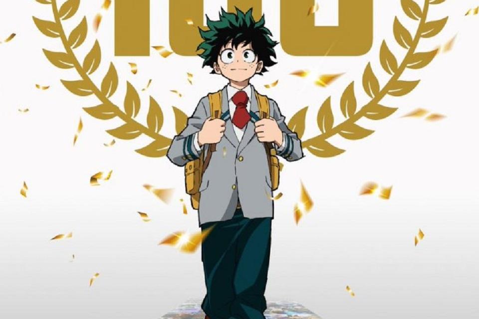 My Hero Academia celebra marca de 100 episódios com novo pôster