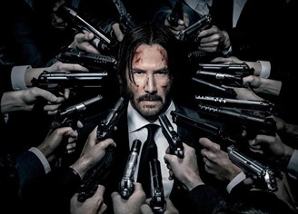 Reeves in the poster of the second John Wick.