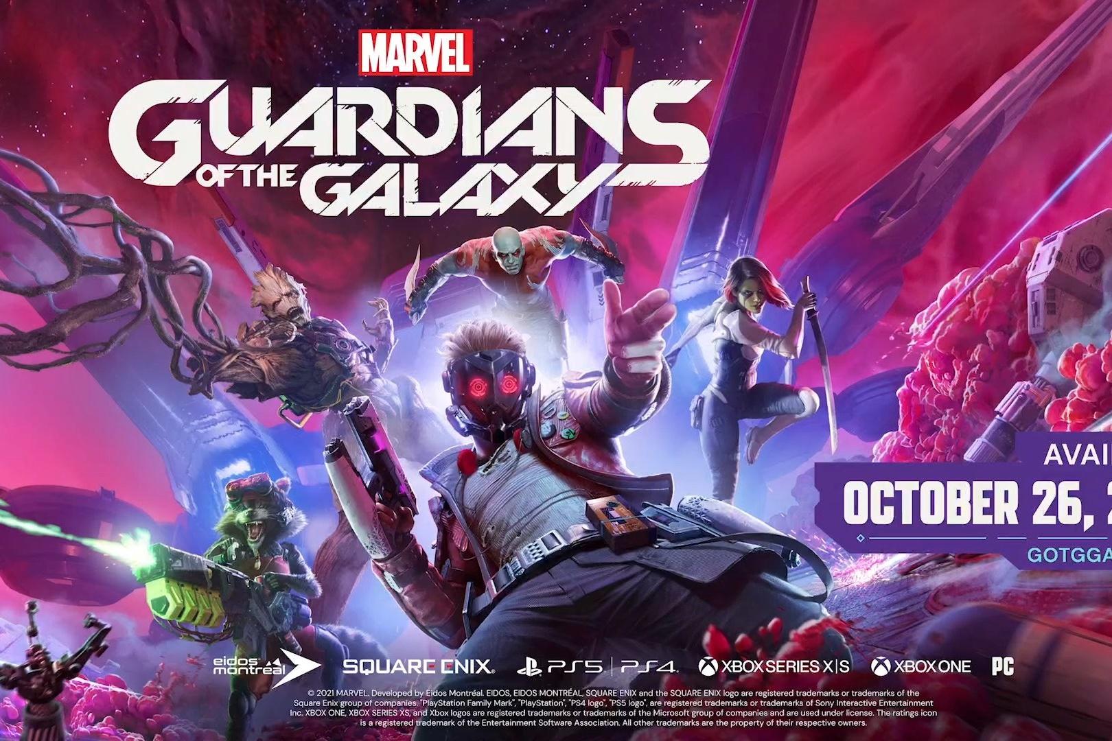 Marvel Guardians of the Galaxy é anunciado pela Eidos-Montréal