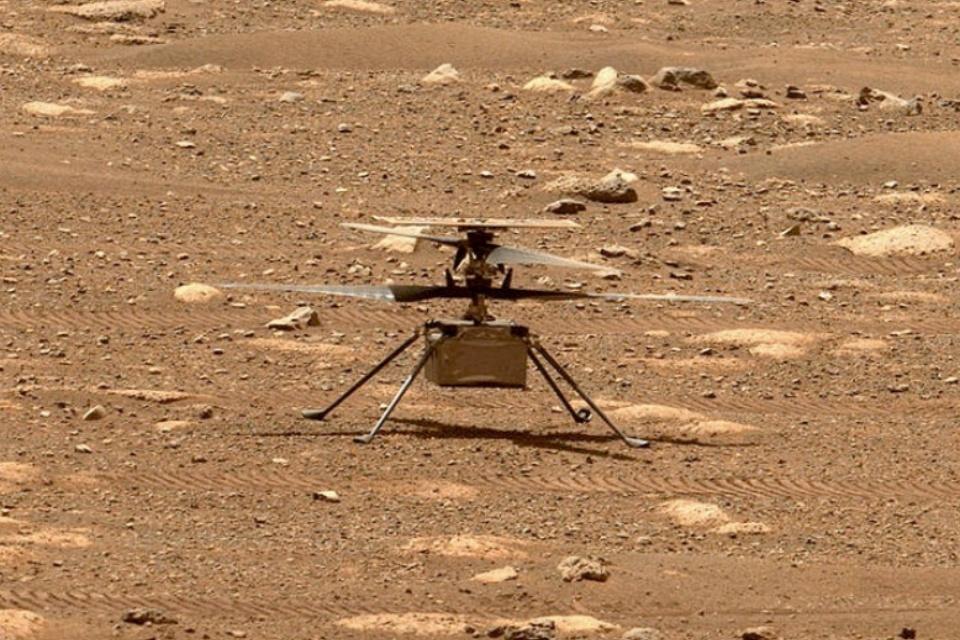 Helicóptero da NASA em Marte recebe prêmio de exploração espacial
