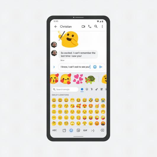 Agora o Gboard vai recomendar novas combinações de figurinhas com base no conteúdo da sua mensagem