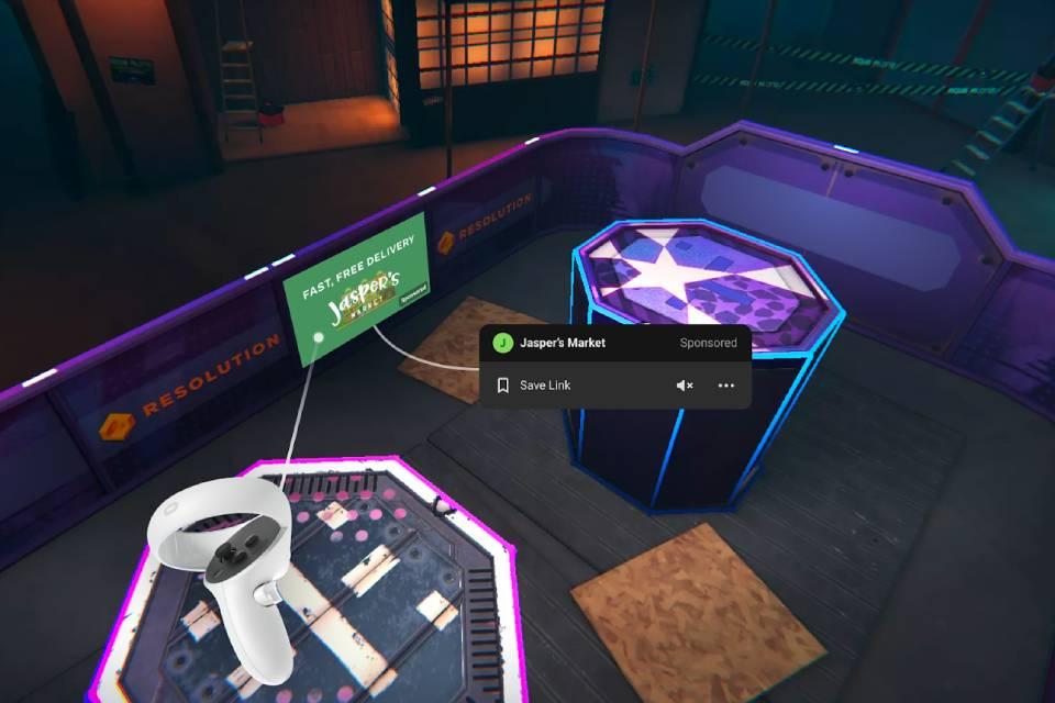 Facebook testa anúncios em realidade virtual com Oculus