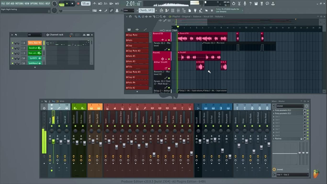 FL Studio durante sua utilização. (Image Line/Reprodução)