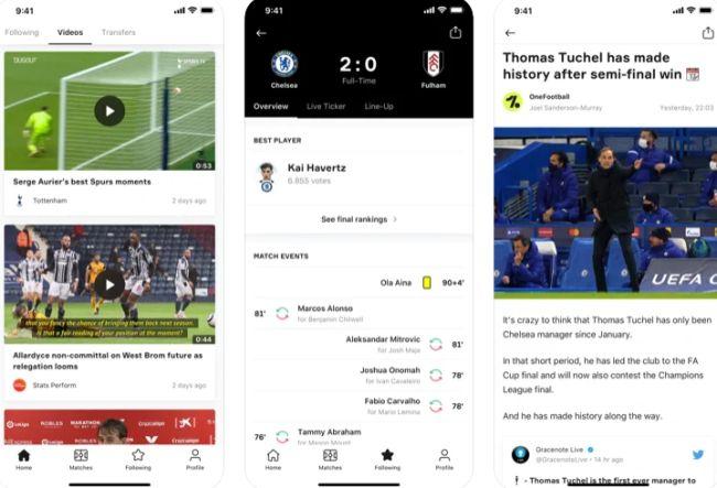 OneFootball app.